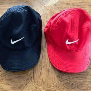 2 NIKE Dri-Fit Featherlight hats